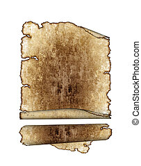 vintage grunge textured parchment scrolls, antique background texture of a paper page, highly detailed