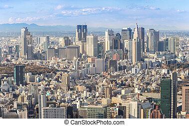 Tokyo Shinjuku skylines - Tokyo city skyline in Shinjuku...