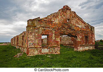 Dilapidated stud farm 19th century The ruins of Orlov...