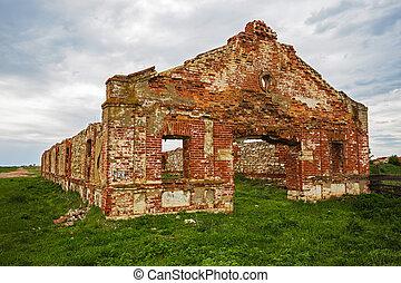 Dilapidated stud farm 19th century The ruins of Orlov...