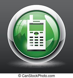 3D Mobile phone icon