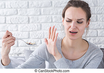 It's too much pills for me - Woman refusing medicines,...