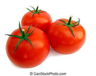 Fresh tomato isolated - Fresh picked tomato isolated on...
