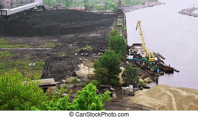 Coal tankage near power plant - Coal tankage near Trypillian...