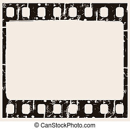 film background - vector grunge filmstrip frame