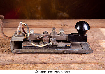 Morse code on telegraph - Fine specimen of a real antique...
