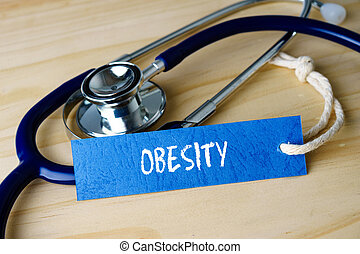 Medical conceptual image with OBESITY words and stethoscope...