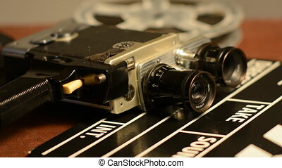 We change the lens on a retro film camera