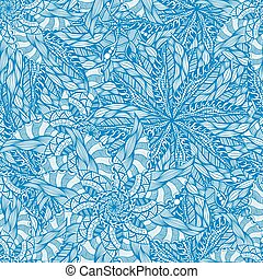 seamless blue pattern - Vector seamless blue pattern. Hand...