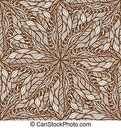 seamless brown pattern - Vector seamless brown pattern Hand...