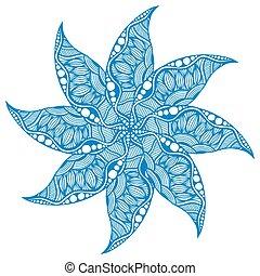 Rosette ornament Isolated on white Vector Illustration