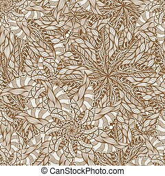 seamless brown pattern - Vector seamless brown pattern. Hand...
