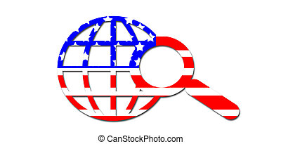 Flag colors - American flag colors background