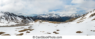 snow-capped Alps in Austria landscape