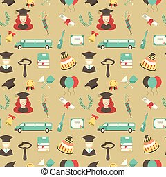 Graduation Celebration Pattern background