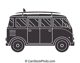 Travel Omnibus Outline Silhouette Icon