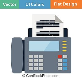 Fax icon Flat design Vector illustration