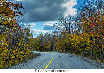View from scenic country road in fall