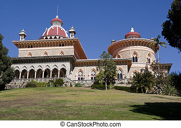 Monserrate Palace - View of the beautiful Monserrate Palace...