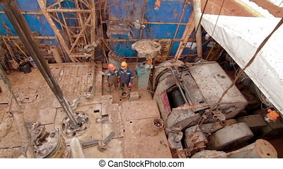 Oil Gas Drilling Rig View From Top Drilling Rig