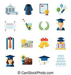 Graduation Day Vector Icons