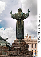 St. Francis in Rome - statue of St. Francis in Rome