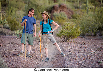 Fun Couple on Nature Trail