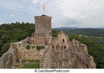 Castle ruins Roetteln in Loerrach, Germany - Loerrach,...