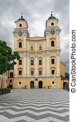 Benedictine monastery in baroque style Mondsee Austria