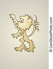 Ancient coat of arms lion. Looks great standing alone or...