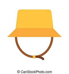 Safari Panama Hat Vector Illustration - Tourist panama hat...