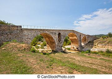 Julien bridge in Provence, France - Old roman bridge Julien...