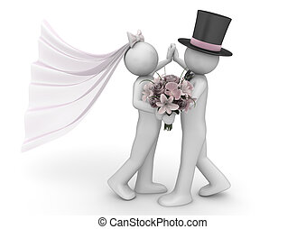 Lifestyle collection - Newlyweds dance - 3d characters...