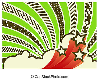 abstract background - Vector illustration - funky looking...