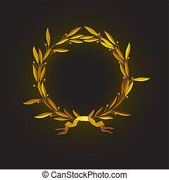 laurel wreath - Vector illustration %u2013 golden laurel...