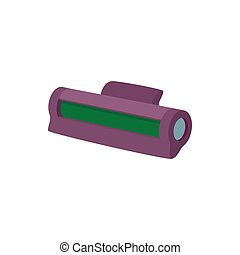 Printer toner cartridge icon, cartoon style
