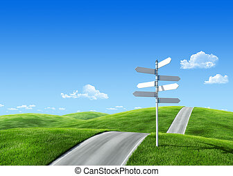 7000px nature collection - Roadsign - Remarkable abstract 3d...