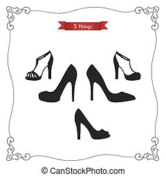Womens shoes - Set 5 things: womens shoes Platform shoes,...