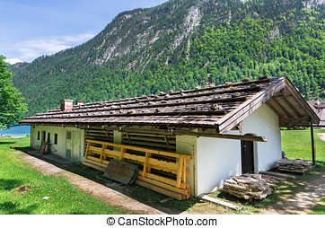 wooden house on the lake Konigssee