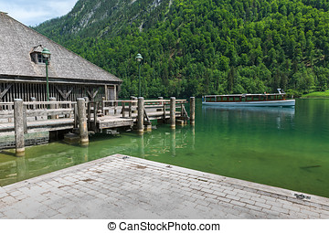 marina on Lake Konigssee in Bavaria