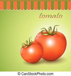 Red fresh tomatoes - Red fresh tomatoes on abstract...