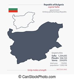 bulgaria - Republic of Bulgaria isolated maps and official...