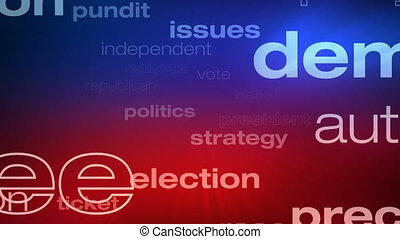 Political and Election Words Loop - Seamless animation loop...