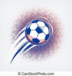 Euro 2016 football championship background with ball and...