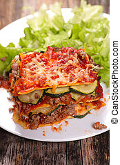 lasagne on a plate