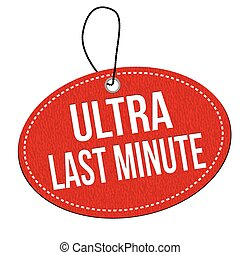 Ultra last minute stamp - Ultra last minute red leather...