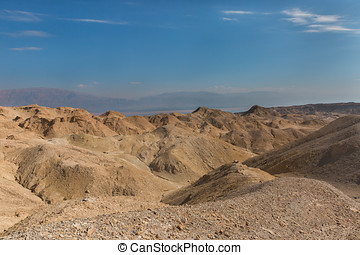 Panorama of Arava desert in Israel