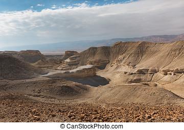 Panorama of Arava desert in Israel