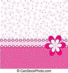 rosa, Puntos, flores, Plano de fondo