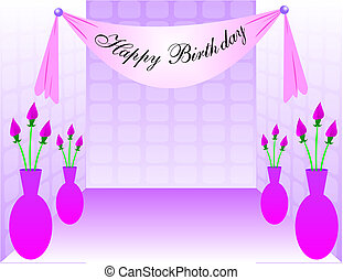 Sweet Sixteen Dance Floor with Happy Birthday Banner